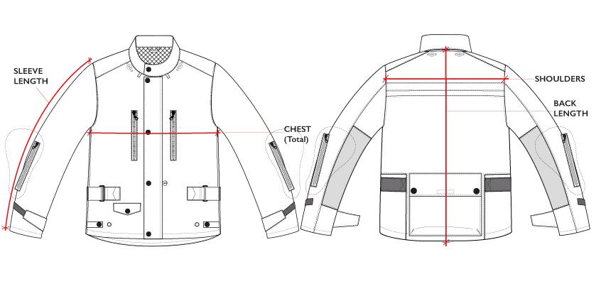 BiondoEndurance_Motorräder_GB_0009/GB_0014)_Jacket-MkII-III_Technical_Drawing